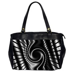Abstract Background Resembling To Metal Grid Office Handbags (2 Sides)