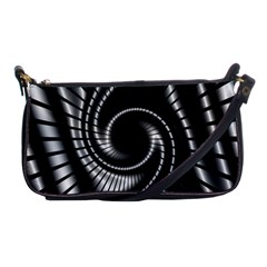 Abstract Background Resembling To Metal Grid Shoulder Clutch Bags