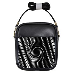 Abstract Background Resembling To Metal Grid Girls Sling Bags