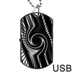 Abstract Background Resembling To Metal Grid Dog Tag USB Flash (Two Sides)