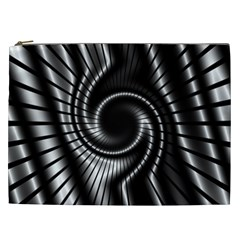 Abstract Background Resembling To Metal Grid Cosmetic Bag (XXL)