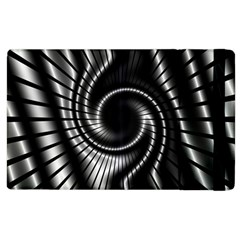 Abstract Background Resembling To Metal Grid Apple iPad 3/4 Flip Case