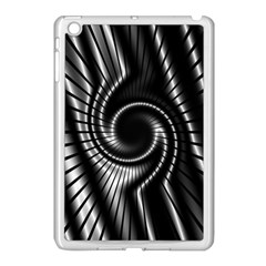 Abstract Background Resembling To Metal Grid Apple iPad Mini Case (White)