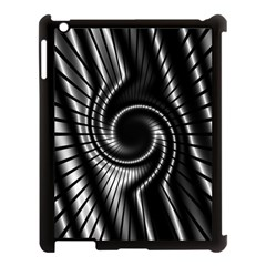 Abstract Background Resembling To Metal Grid Apple Ipad 3/4 Case (black)
