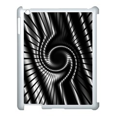 Abstract Background Resembling To Metal Grid Apple iPad 3/4 Case (White)