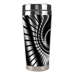 Abstract Background Resembling To Metal Grid Stainless Steel Travel Tumblers