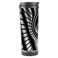 Abstract Background Resembling To Metal Grid Travel Tumbler