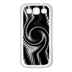 Abstract Background Resembling To Metal Grid Samsung Galaxy S3 Back Case (White)
