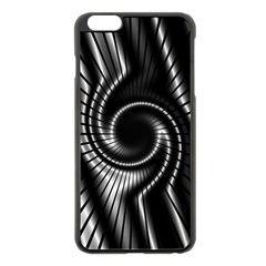 Abstract Background Resembling To Metal Grid Apple Iphone 6 Plus/6s Plus Black Enamel Case