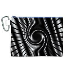 Abstract Background Resembling To Metal Grid Canvas Cosmetic Bag (xl)