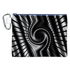 Abstract Background Resembling To Metal Grid Canvas Cosmetic Bag (xxl)