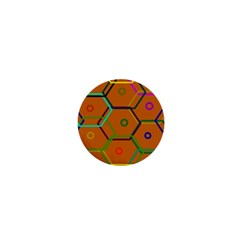 Color Bee Hive Color Bee Hive Pattern 1  Mini Buttons