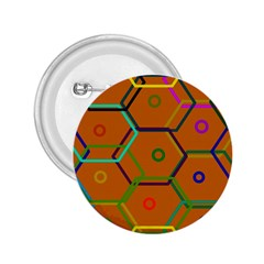 Color Bee Hive Color Bee Hive Pattern 2.25  Buttons
