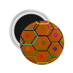 Color Bee Hive Color Bee Hive Pattern 2.25  Magnets