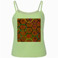 Color Bee Hive Color Bee Hive Pattern Green Spaghetti Tank