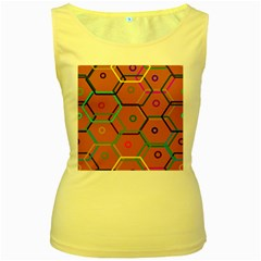 Color Bee Hive Color Bee Hive Pattern Women s Yellow Tank Top