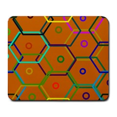 Color Bee Hive Color Bee Hive Pattern Large Mousepads