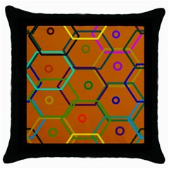 Color Bee Hive Color Bee Hive Pattern Throw Pillow Case (Black)