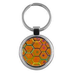 Color Bee Hive Color Bee Hive Pattern Key Chains (round)