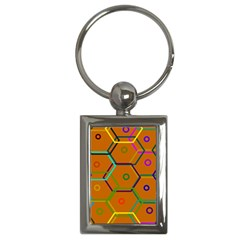 Color Bee Hive Color Bee Hive Pattern Key Chains (rectangle)