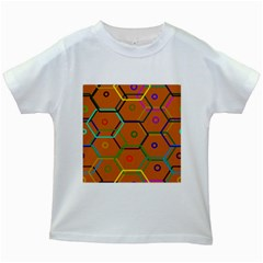 Color Bee Hive Color Bee Hive Pattern Kids White T Shirts