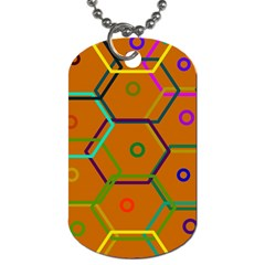 Color Bee Hive Color Bee Hive Pattern Dog Tag (one Side)