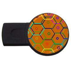 Color Bee Hive Color Bee Hive Pattern USB Flash Drive Round (1 GB)