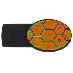 Color Bee Hive Color Bee Hive Pattern USB Flash Drive Oval (1 GB)