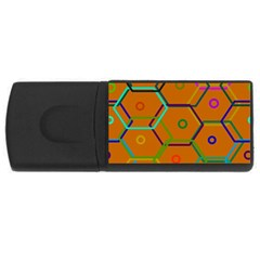 Color Bee Hive Color Bee Hive Pattern USB Flash Drive Rectangular (1 GB)
