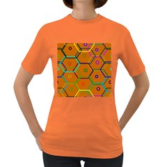 Color Bee Hive Color Bee Hive Pattern Women s Dark T-Shirt