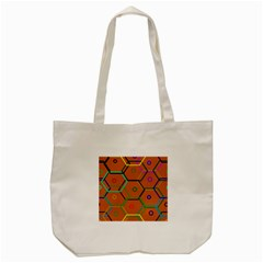 Color Bee Hive Color Bee Hive Pattern Tote Bag (cream)