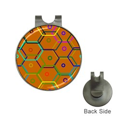 Color Bee Hive Color Bee Hive Pattern Hat Clips with Golf Markers