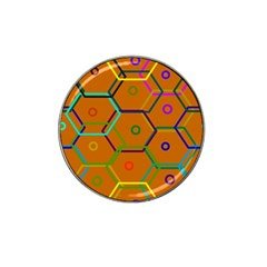 Color Bee Hive Color Bee Hive Pattern Hat Clip Ball Marker (4 Pack)