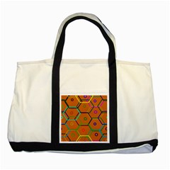Color Bee Hive Color Bee Hive Pattern Two Tone Tote Bag