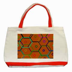 Color Bee Hive Color Bee Hive Pattern Classic Tote Bag (red)