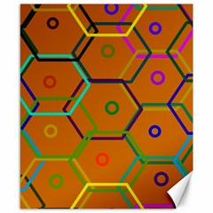 Color Bee Hive Color Bee Hive Pattern Canvas 8  X 10