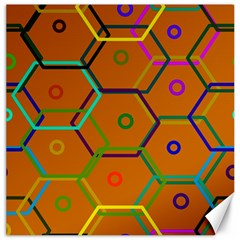 Color Bee Hive Color Bee Hive Pattern Canvas 16  X 16