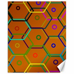 Color Bee Hive Color Bee Hive Pattern Canvas 16  x 20