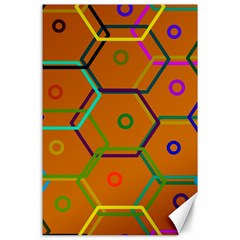 Color Bee Hive Color Bee Hive Pattern Canvas 24  x 36