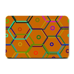 Color Bee Hive Color Bee Hive Pattern Small Doormat