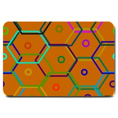Color Bee Hive Color Bee Hive Pattern Large Doormat