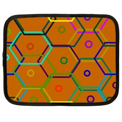 Color Bee Hive Color Bee Hive Pattern Netbook Case (large)