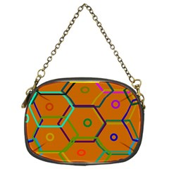 Color Bee Hive Color Bee Hive Pattern Chain Purses (one Side)