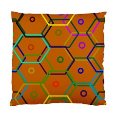Color Bee Hive Color Bee Hive Pattern Standard Cushion Case (One Side)