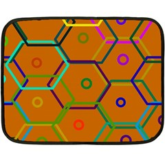 Color Bee Hive Color Bee Hive Pattern Double Sided Fleece Blanket (Mini)