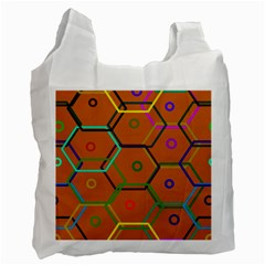 Color Bee Hive Color Bee Hive Pattern Recycle Bag (two Side)