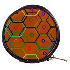 Color Bee Hive Color Bee Hive Pattern Mini Makeup Bags