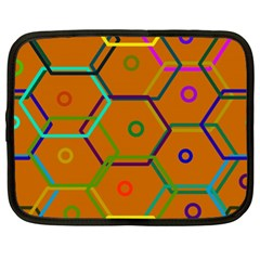 Color Bee Hive Color Bee Hive Pattern Netbook Case (XL)