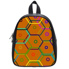 Color Bee Hive Color Bee Hive Pattern School Bags (small)