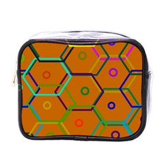 Color Bee Hive Color Bee Hive Pattern Mini Toiletries Bags